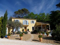 The lush greenery outside this House for Sale in Uzes, Languedoc-Roussillon, France is very easy on the eyes.