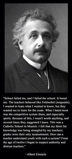 I'm no Einstein, but this is how I felt about my school days!