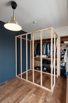 Temporary Room Dividers, Temporary Wall, Wardrobe Behind Bed, Door Dividers, House Wiring, Big Girl Rooms, Small Rooms, Apartment Design, Bedroom Wall