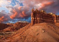Sentinel Sunset by Klaus Priebe - New Mexico