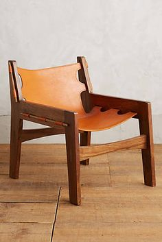 GroBartig Leather Loom Dining Chair