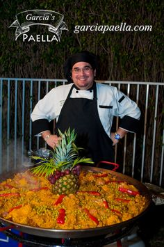 Garcia's Paella with Hasley cooking a #Delicious Arroz Campesino