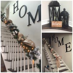 Christmas Stair Banister #Christmas # Festive