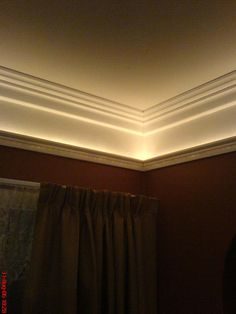 how to add rope lighting to crown molding  for moulding on top of