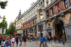 Meir shopping street in Antwerp