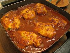 This recipe for Barbecue Chicken is made in a skillet, if you have an electric skillet that would be perfect. A Coke is added to the sauce to make a delicious flavorful dish.