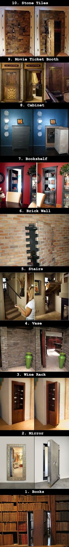 Need an escape route? Here are some awesome secret doors that even Batman (Bruce Wayne) would approve of.