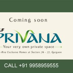 We launched Exclusive Floors in DLF5, that is the most asked for property, in DLF5 even these days. FOR folks that LIVE LIFE in their own freelance Residence , Dlf Privana square measure the peerlessly apt residential choice. These square measure freelance homes with Ground + 3 floors on 2000sqft. For visit payment paln and costs decision U.S.@+91–9958959555 or go browsing to http://www.sarthakestates.com/dlf-privana/