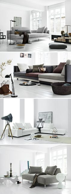 beautiful contemporary sofas white, grey and beige
