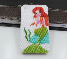 Pearl Mermaid Iphone 4 cases,  bling iphone 4s case,iphone cases 4 ,the best iphone case,crystal iphone 4 case. $19.99, via Etsy.