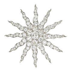1stdibs | Tiffany Antique Diamond Starburst Brooch