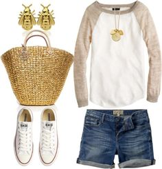 I would need slighty longer shorts, but I do love this casual look. Summer Outfits, Casual Outfits, Cute Outfits, Fashion Outfits, Womens Fashion, Cozy Fashion, Look At You, Just For You, Spring Summer Fashion