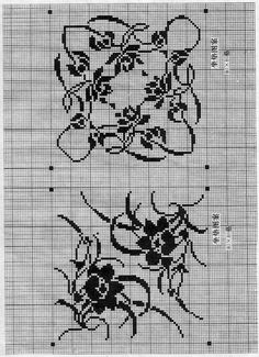 @nika Crochet Squares, Filet Crochet, Blackwork, Crocheting, Tutorials, Farmhouse Rugs, Towels, Hardanger, Roses