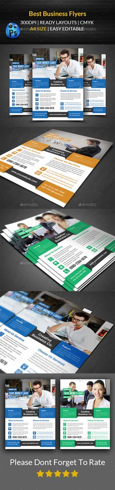 Flyer Template Flyer template, Flyer printing and Business flyer - business pamphlet templates