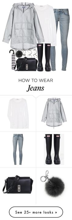 """Untitled #1387"" by victoriamk on Polyvore featuring rag & bone, Chan Luu, Hunter, Zara, T By Alexander Wang, Michael Kors, ASOS and Proenza Schouler"