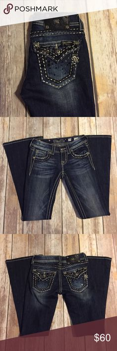 """Miss Me Jeans - Flare EUC - Miss Me Jeans flared. Inseam 31"""" Style number JE5686FR. All gems and sequins are still intact. Miss Me Jeans Flare & Wide Leg"""