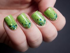 Great Green Gradient - Barry M and CrowsToes