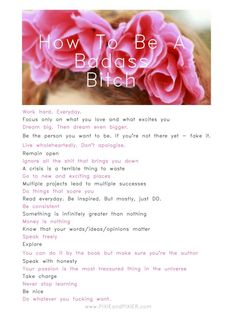 How To Be A Badass Bitch...on PIXIEandPIXIER.com