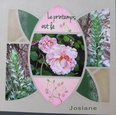 Aujourd'hui je partage la page de Josiane qui a utilisé le gabarit Rosace pour la mise en page de ses photos La page d'album est taupe...