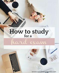 How to Study for a Hard Exam - Caroline vs. World