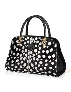 d337389dc840 Tod s Sellas small bowler bag in soft animal-print ponyskin-effect leather