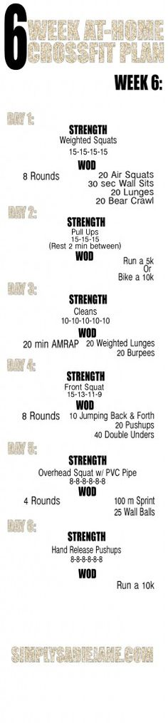 WEEK 6: FINAL WEEK OF THE 6 WEEK AT-HOME WORKOUTS!!