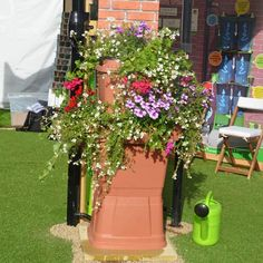 Water Butt 2 Tier 134 Litre With Planters by Rainwater Terrace