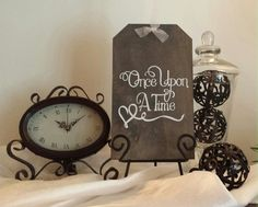Once Upon A Time Wedding Sign, Rustic Sign, Fairytale Sign, Love Sign, Vintage Wedding Sign on Etsy, $21.95