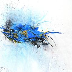 magical blue abstract painting