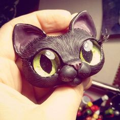Sharing with you today my next wip on black kitty, she is also sculpted in black fimo 😃 and going to be dressed as Disney character… Cute Polymer Clay, Polymer Clay Dolls, Polymer Clay Charms, Polymer Clay Projects, Polymer Clay Jewelry, Clay Cats, Black Kitty, Sculpture Clay, Clay Tutorials