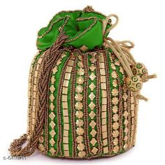 Pouches & Potlis Stylish Women's Potli  Material: Silk Pattern: Embroidered Multipack: 1 Sizes:  Free Size (Width Size: 9 cm) Country of Origin: India Sizes Available: Free Size *Proof of Safe Delivery! Click to know on Safety Standards of Delivery Partners- https://ltl.sh/y_nZrAV3  Catalog Rating: ★4.2 (1718)  Catalog Name: Elite Classy Women Pouches & Potlis CatalogID_1019739 C73-SC1077 Code: 312-6410711-