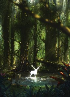 Forest spirit., Yonathan Saura on ArtStation at https://www.artstation.com/artwork/b012a
