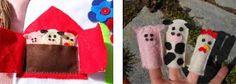 diy toddler quiet book - finger puppets