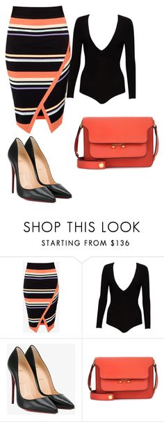 Lana by eteralucia on Polyvore featuring interior, interiors, interior design, casa, home decor, interior decorating, Ted Baker, Alice + Olivia, Christian Louboutin and Marni