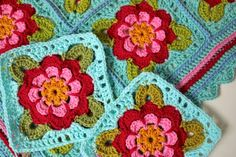 Cherry Heart: Painted Roses Blanket in Stylecraft
