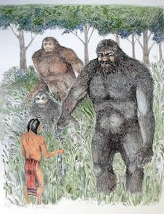Bigfoot and Bigfoot-like beings have been a part of many Native American cultures for centuries. Native Americans have known about Bigfoot. Bigfoot Stories, Bigfoot News, Bigfoot Sasquatch, Yeti Bigfoot, Native American Legends, American History, Finding Bigfoot, Bigfoot Sightings, Urban Legends