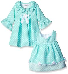 Amazon.com: Bonnie Baby Baby-Girls Aqua Check Dress and Coat Set: Baby