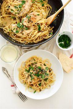 Chicken Piccata / Bev Cooks. Can sub all broth for white wine.