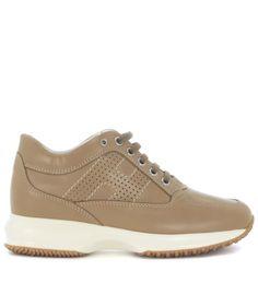 HOGAN Sneaker Hogan Interactive In Pelle Marrone Caramello. #hogan #shoes #sneakers
