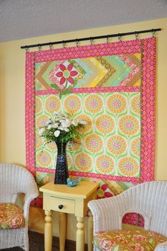 "Hanging quilts ideas. Need to find out what ""curtain clips"" are."