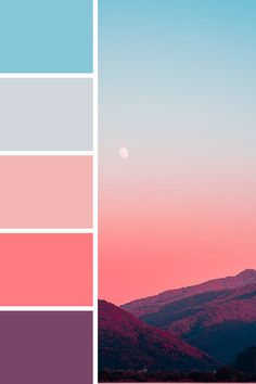 Gorgeous pastel tones, with more pinks and purples than your average sunset Sunset Color Palette, Retro Color Palette, Sunrise Colors, Colour Pallette, Color Palate, Pastel Pallete, Purple Palette, Pantone Colour Palettes, Color Schemes Colour Palettes