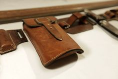 Leather Pouch Bag by Leon Litinsky
