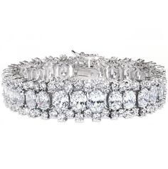 Ovals And Rounds Bracelet by CZ by Kenneth Jay Lane