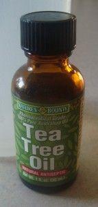 Homemade Disinfectant Spray    -Tea Tree Oil  -hot water  -spray bottle