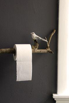 toilet paper roll dispenser, let the outdoors in ----vrijdagvrij: Takken