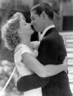"""Greta Garbo and Clark Gable in """"Susan Lenox"""", 1931."""