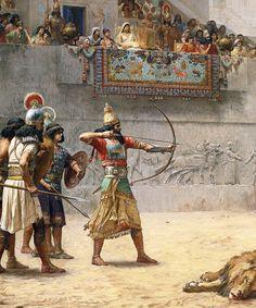 'The Diversion Of An Assyrian King' by Jean-Léon Gérôme, 1500s.