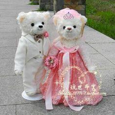 Wedding Teddy Bears   -princessteddy-bear-doll-pretty-married-couple-wedding-bears-wedding ...