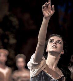 Natalia Osipova as Giselle during her mad scene in Act 1 of the Mikhailovsky Ballet's Giselle. Photo by Nikolai Krusser