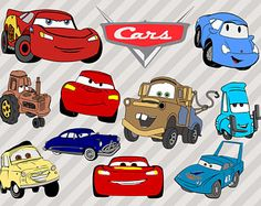 Movie Cars Svg, Disney Cars Svg Cut Files, Lightning svg, Mate cars clip art, Cars movie svg. Cars dxf, eps, and png clip art for cricut
